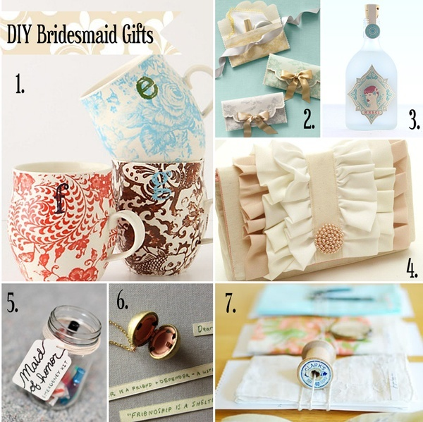 DIY bridesmaid gifts Diy Weddings Pinterest