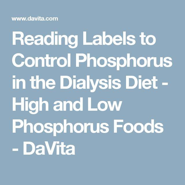 Davita High Phosphorus Foods
