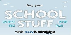 Buy school stuff and raise free donations for us! Whatever you shop for over the summer – entertainment for the kids, trips and days out, school uniforms, stationery or computers – remember to shop online via #Easyfundraising