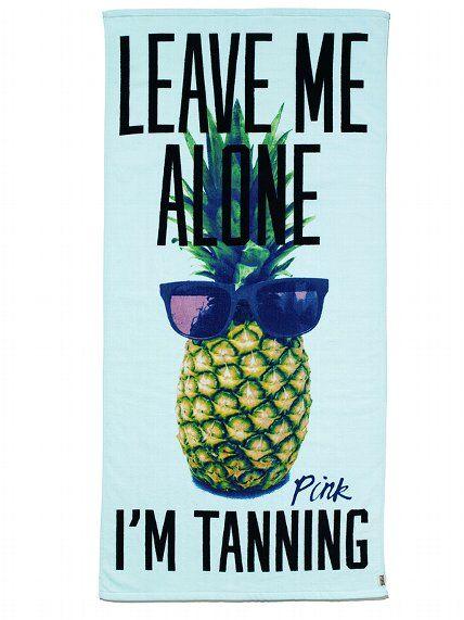 Pineapple be my friend. ~PINKBeach Towel