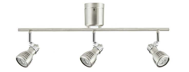 Sorrento DIY 6w LED 3 Light Spotlight with Globes in Brushed Steel