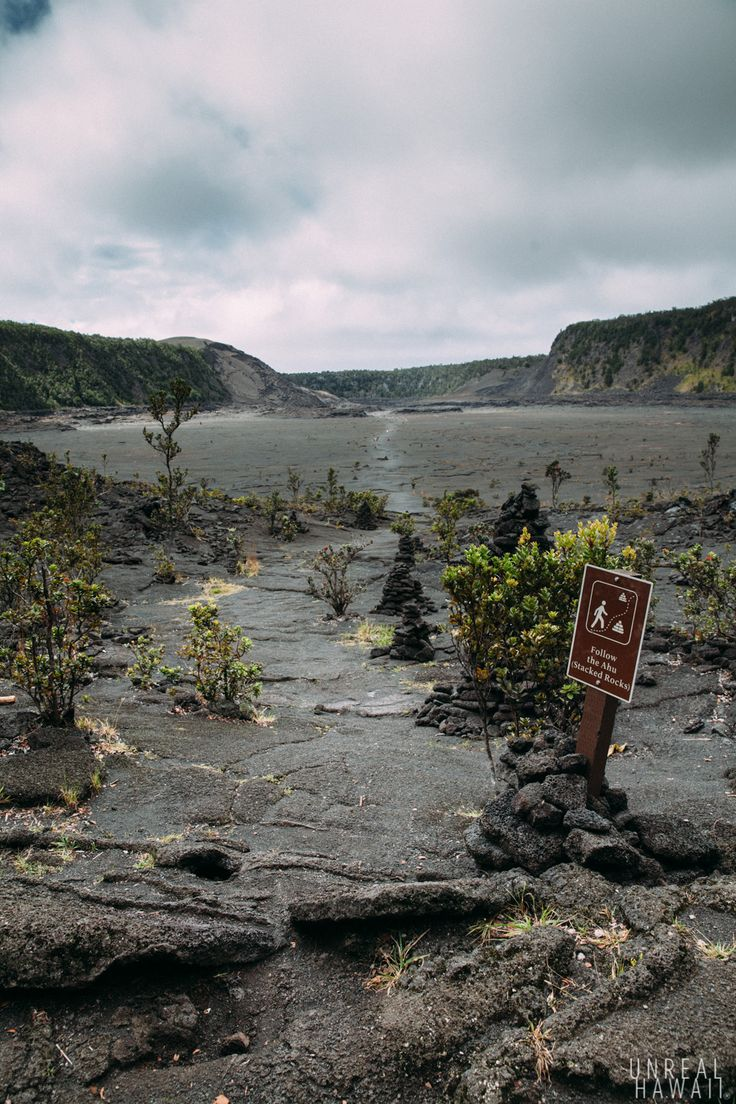 The start of the Kilauea Iki Trail at Hawaii Volcanoes National Park