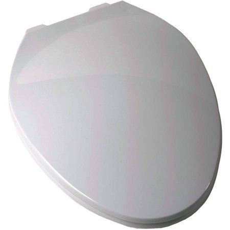 Plum Best White Elongated Contemporary Toilet Seat