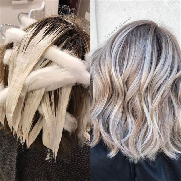 50+ Hair Color Trends in 2019 Before & After: Highlights on