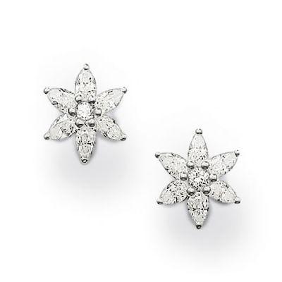 Stg THOMAS SABO CZ flower earrings
