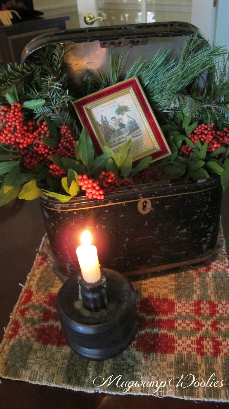 Ich habe einen Vintage-Safe …? #vintagechristmas   – vintage christmas ideas