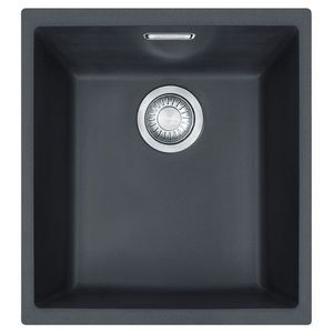 Franke Undermount Sink with 1 Bowl  Sleek Black finish to suit a range of modern bathroom decors  Cabinet Size: 400mm