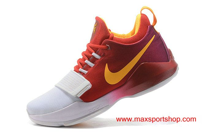 Nike PG 1 id White Red Orange Basketball Shoes For Men