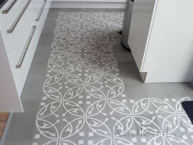 Cementtiles kitchen - Oval Gris - Egal Negra S7005 - Project van Designtegels.nl