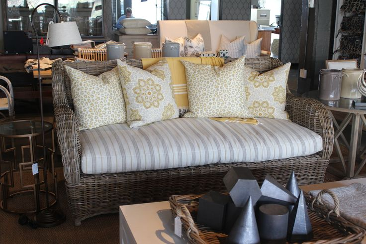 William Sofa with a series of the lemon zest fabrics from this collection.