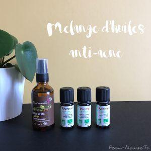 Mélange d'huiles anti acné