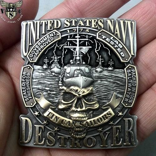 United States Navy Destroyer Tin Can Sailors Coin $17.75