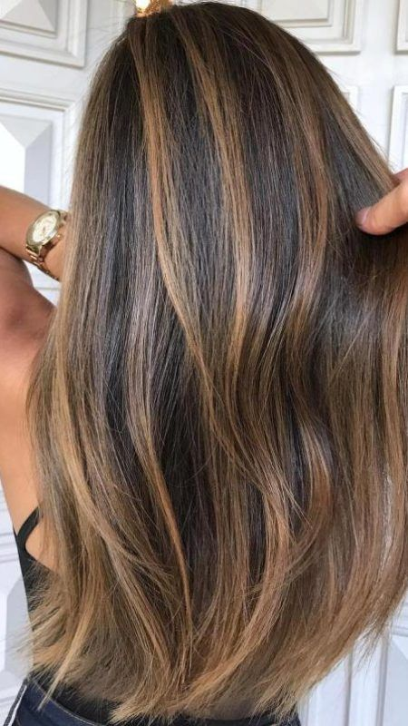 Natural- Looking Brunette Balayage Hair Colors for 2018