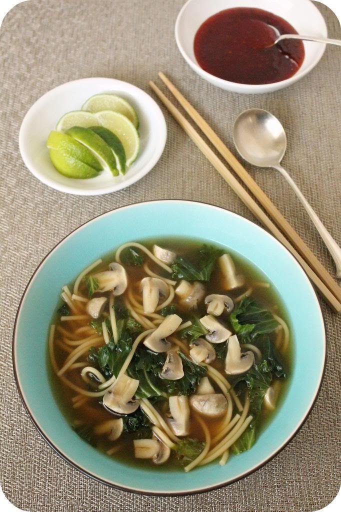Vegan Mushroom, Kale, and Lemongrass Soup
