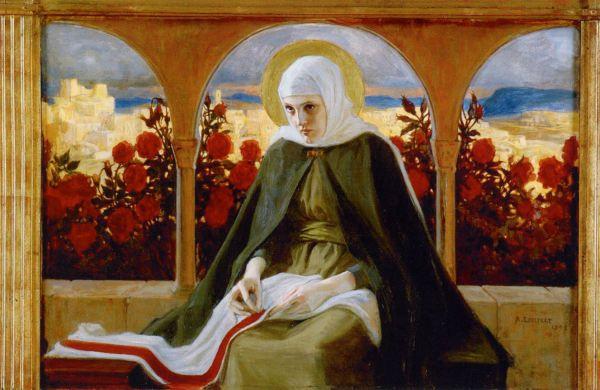 Neitsyt Maria Ruusutarhassa (1898)