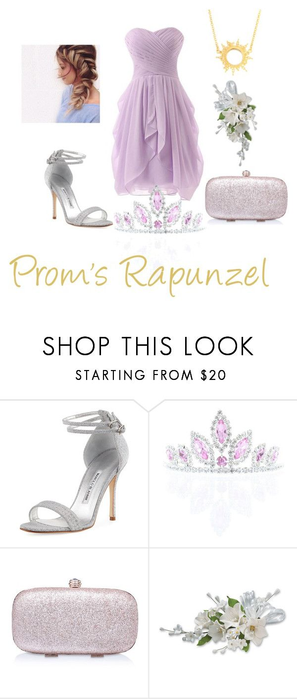 """""""Disney Princesses Prom #4"""" by gicasanque ❤ liked on Polyvore featuring Manolo Blahnik, Kate Marie, Carvela and Annabelle Lucilla Jewellery"""