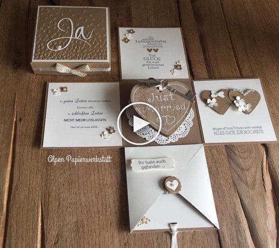 Money Gift Explosion Box For Wedding Wood Heart Gifts Giftideas Bestgifts Explosion Box Diy Gifts For Boyfriend Exploding Box Card