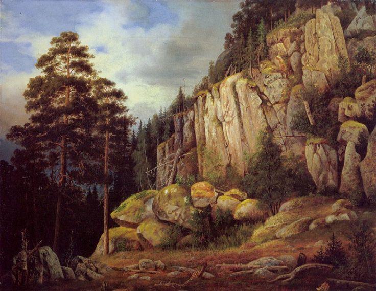 """""""Suopeltovuori Haminalahdessa""""  Magnus von Wright - Veljeksistä etenk.Magnus ja Wilhelm olivat aikanaan paitsi taitelijoita,myös luonnontietelijöitä ja arvostett.tiedeyhteisön jäseniä.Magnuksella oli taitelijan ja tieteilijän luonne.Hän aloitti ornitologisilla lintukuvituksilla,mutta oli myös Suomen tärkeimpiä maisemamaalareita.Lisäksi hän toimi nykyisen H:gin yliopiston eli tuolloisen Keisarillisen Aleksanterin yliopiston piirustusmestarina sekä eläintieteellisten kokoelmien…"""