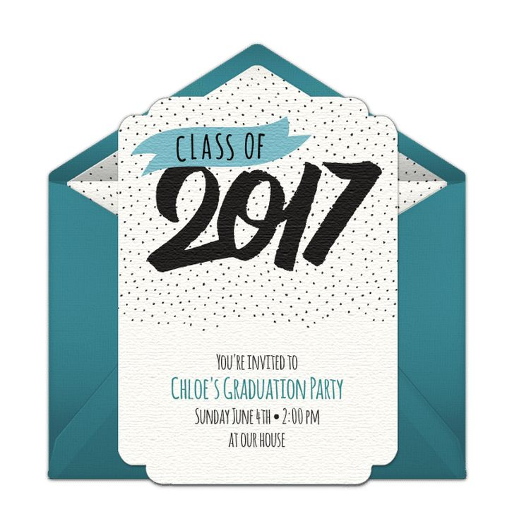 Save Money with These Free, Printable Graduation Invitations: Punchbowl's Online Graduation Invitation Templates