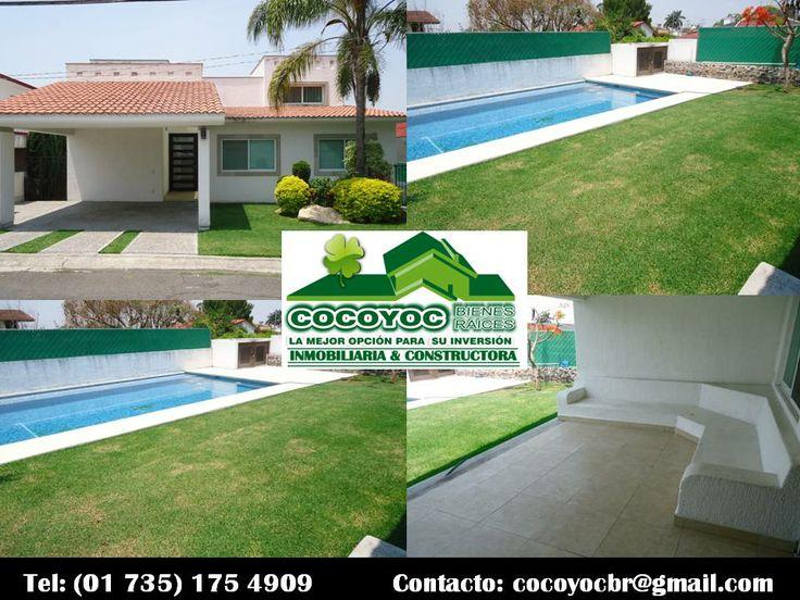 Casa Tul. Renta fin de semana en Lomas de Cocoyoc www.cocoyocbienesraices.com.mx Informes: (01 735) 175  49 09
