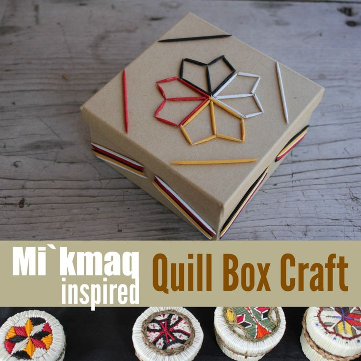 Exploring the Mi'kmaq Culture with a Quillwork Inspired Craft {Native American Heritage Month Blog Hop and Giveaway}