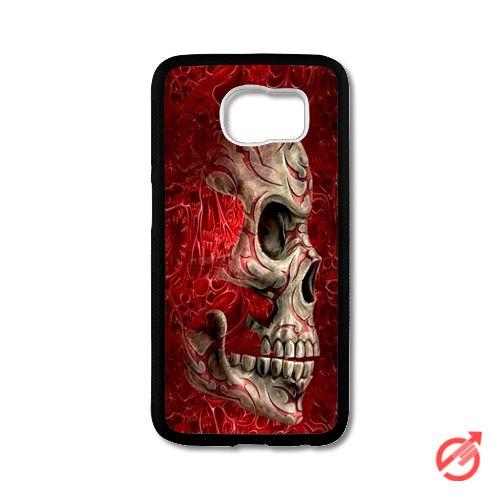 Skull Fantasy Red Art Samsung Cases #iPhonecase #Case #SamsungCase #Accessories #CellPhone #Cover #samsung