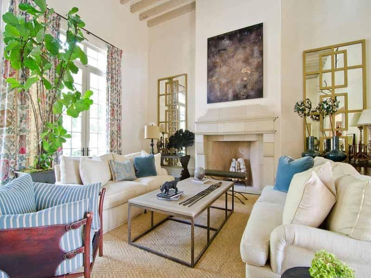 Neutral Decor In Atlanta Georgia #Gold #Mirrors #Sofa Part 72