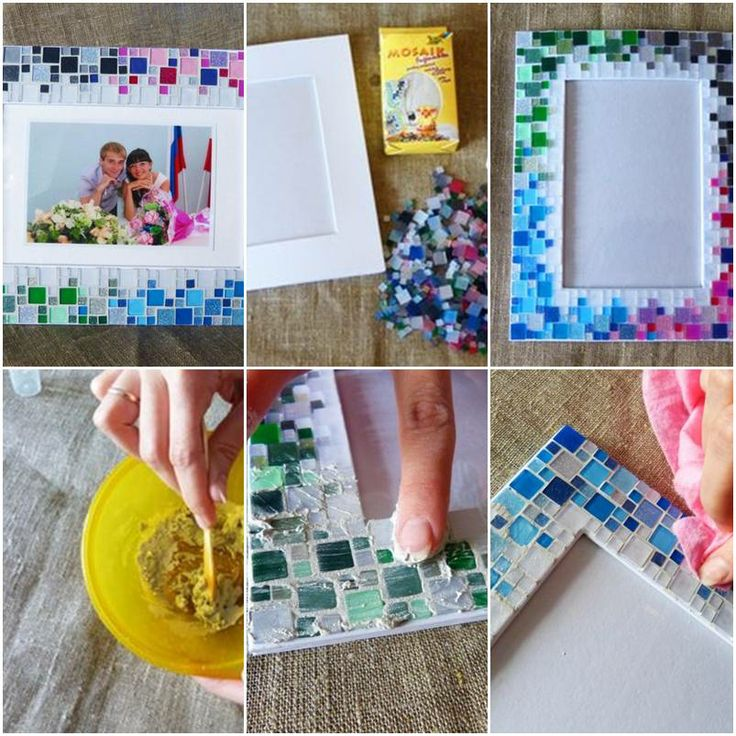 How to make a picture frame yourself frameswall do it yourself picture frame ideas how to make colorful mosaic solutioingenieria Gallery