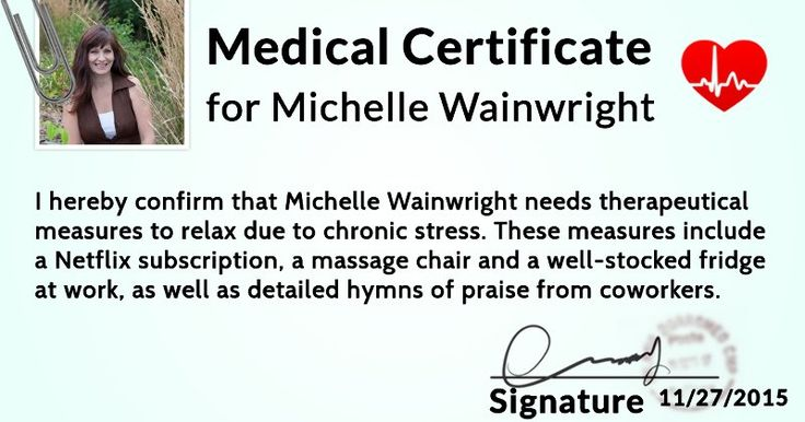 What does your medical certificate look like? Fun pics - medical certificate