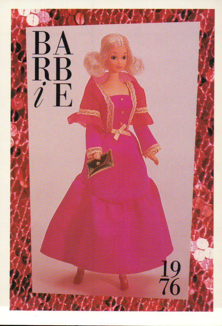 "Barbie Collectible Fashion Card "" Get UPS 'N Go "" 1976 