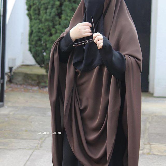 Hidayah Khimar  Dark Brown |Abaya Fatima |Niqab Half Faced | All items by  #ahmedtailor #ahmeddesign #abaya #muslimah #jilbaab #modest #hijab #niqab #inblack #umbrella #blackout  #hijab #hijabers #modesty #khimar #khamar #classic #marwa #hajj #umrah. 📸📸📷All photos by ❤️❤️❤️@sisterinblack