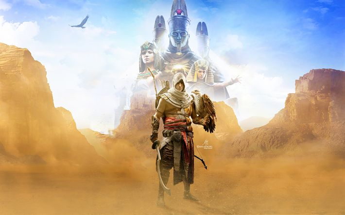 Download wallpapers Assassins Creed Origins, 4k, 2017 games, Action-adventure