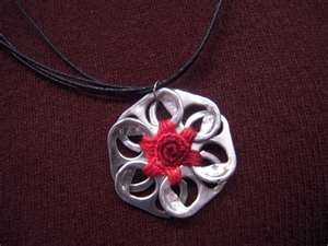can tab necklace. check out can tab crafts on Bing!