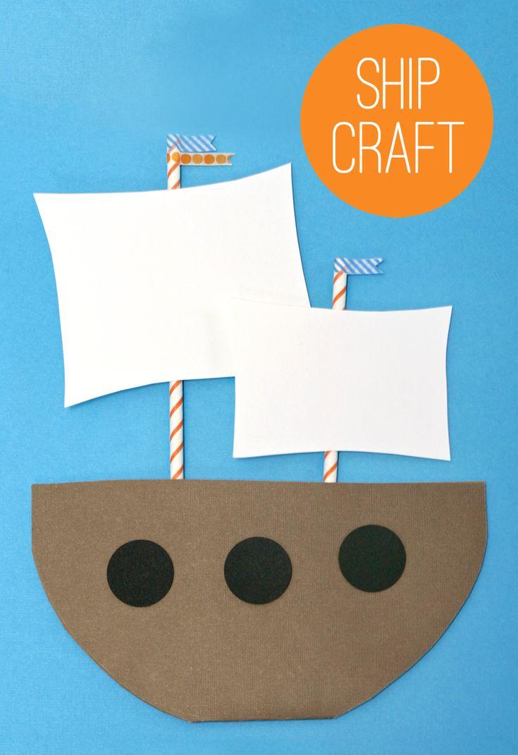 Make a Mayflower - Kids Thanksgiving Craft Idea from PagingSupermom.com