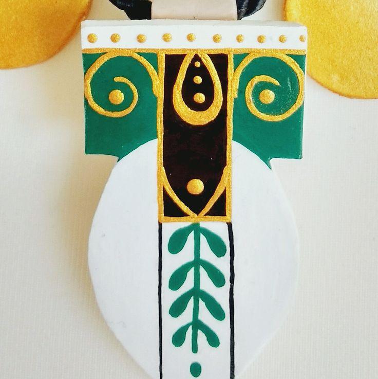 Schmuck ethnisch, Schmuck Vintage, Halskette ethnisch, Halskette Weiß, Halskette rund, Geschenk für sie, Halskette Gold von StudioAnnaP auf Etsy
