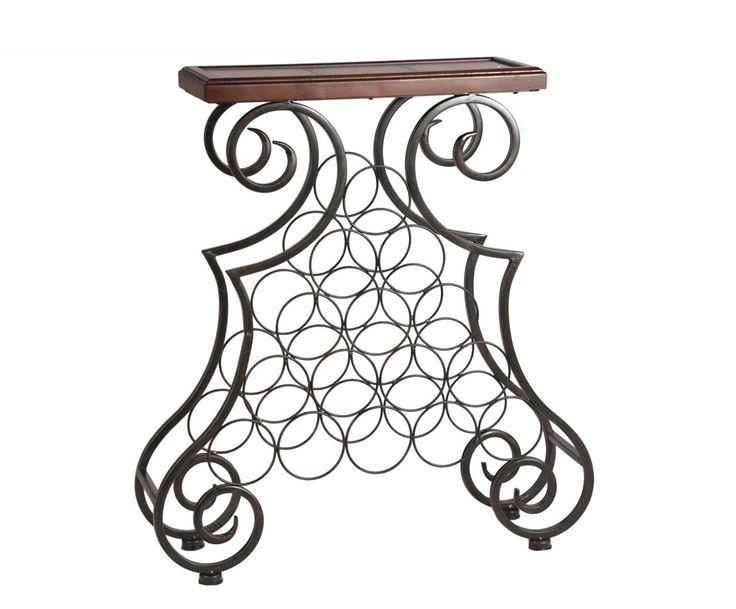 винный столик - металл - черный - Ш68 х В74 | Westwing Интерьер & Дизайн