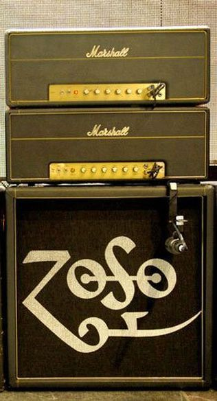 Jimmy Page's stage rig.  2 Marshall Super Leads - the best sounding guitar amp ever made