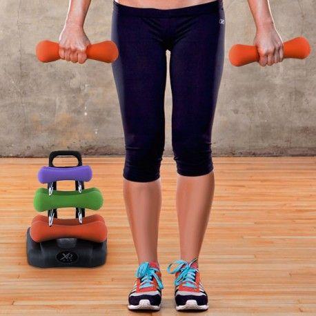 Juego de Mancuernas con Soporte para Fitness