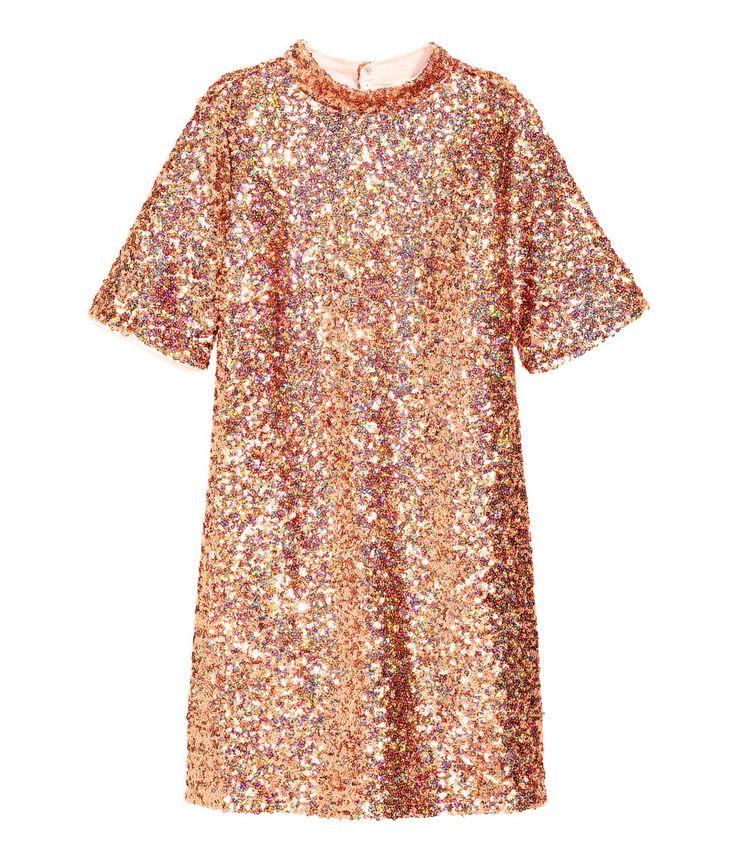 Kurzes Paillettenkleid | Bronze | Damen | H&M DE