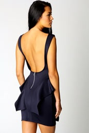 backless in blue,  such style