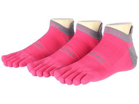 No toe blisters!!!   Injinji Run Lightweight No Show Coolmax 3 Pair Pack Canyon Pink - Zappos.com Free Shipping BOTH Ways
