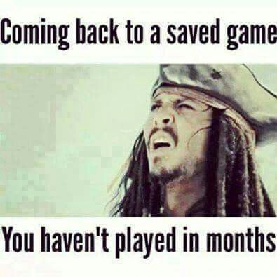 Me with Twilight Princess. . .Which isn't a good game to leave untouched for a while and then try to re-pick it up. xD