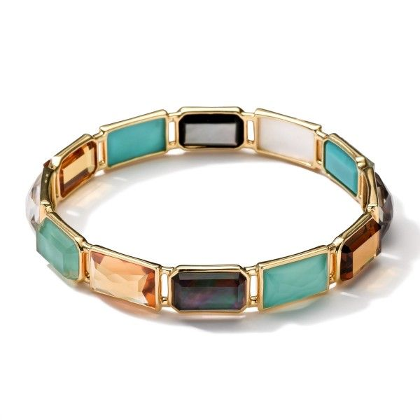 18k Gold Rock Candy Gelato Rectangular 12 Stone Bangle Bracelets Ippolita At Alson Jewelers Pinterest Bangles Jewelry And Turquoise