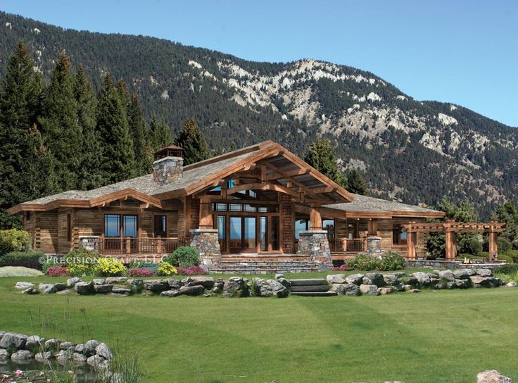 Best 25 mountain house plans ideas on pinterest for Craftsman log home plans