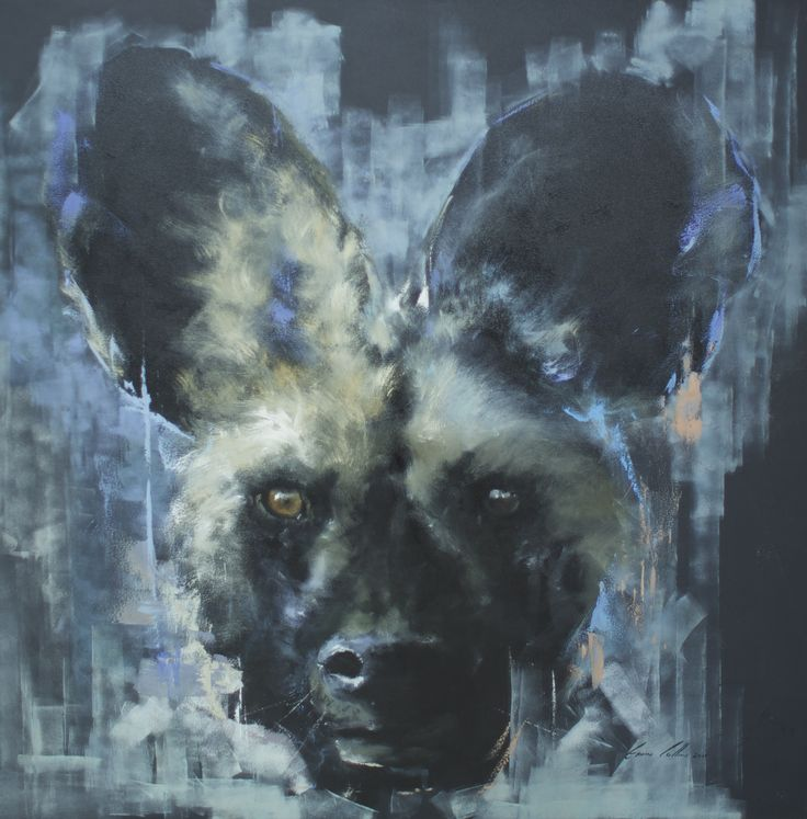 Wild dog Oil on canvas by Gavin Collins
