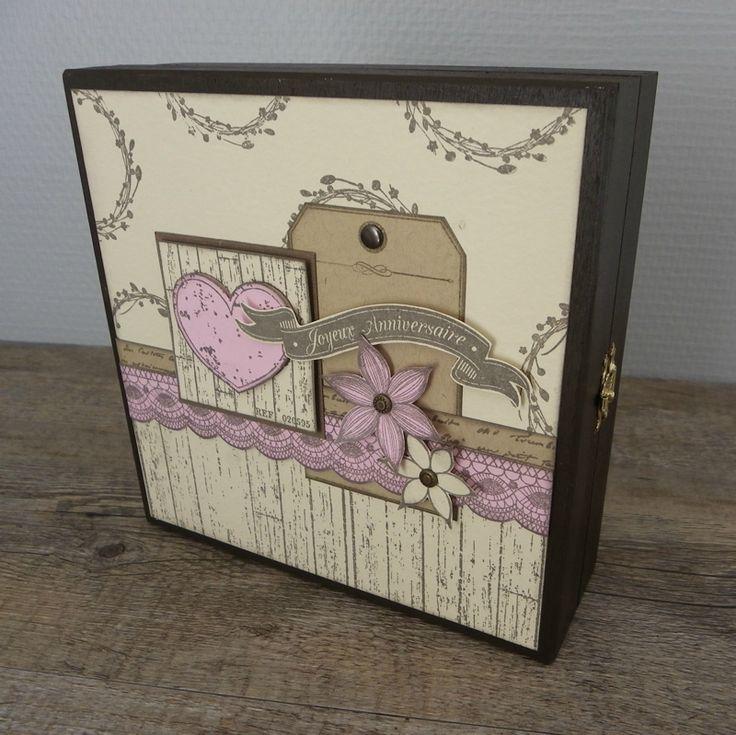 CréaChristine1 : tuto boîte en bois pour offrir des tampons…