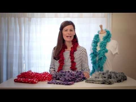 Sassy Yarn Scarves Video....learn how to do them.