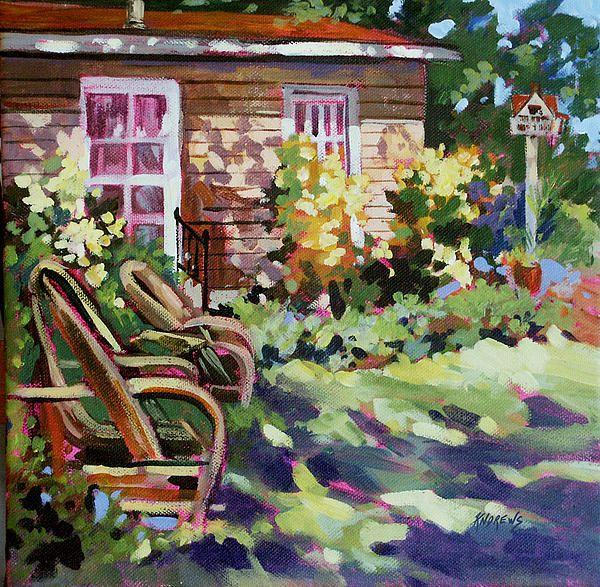 A garden scene in Granbury Texas