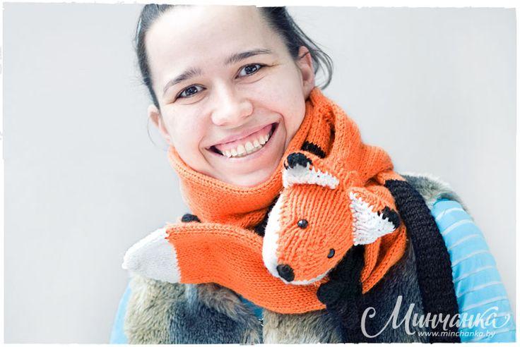 """Sciarpa """"Fox"""" - Gioielli e accessori - Rukodelnichaem - Abitante: Essere Una donna - e divertente!"""