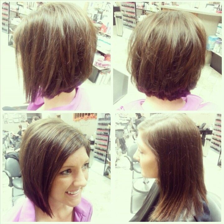 Before and after haircut, angled bob, layers, soft ...